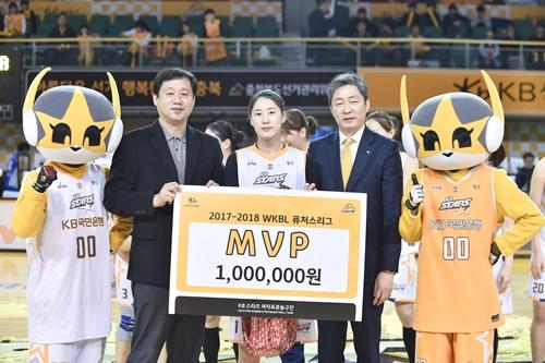 여자 프로농구 퓨처스리그 MVP KB스타즈 김한비. 사진=WKBL 제공