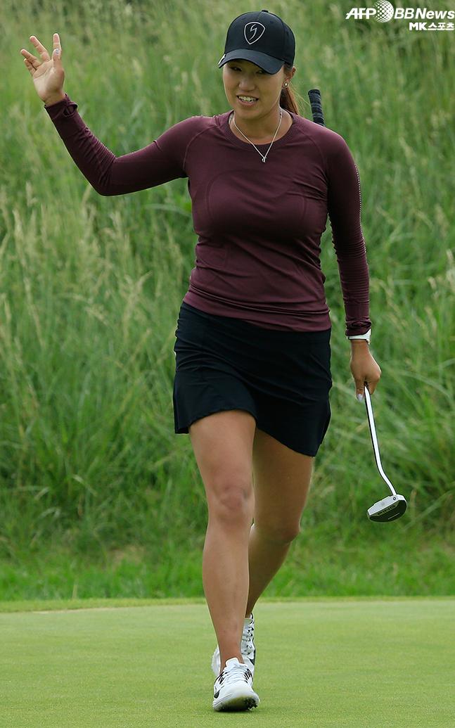 한국계 미국인 애니 박이 LPGA 투어 데뷔 3년 만에 첫 우승의 기쁨을 누렸다. 사진=AFPBBNews=News1