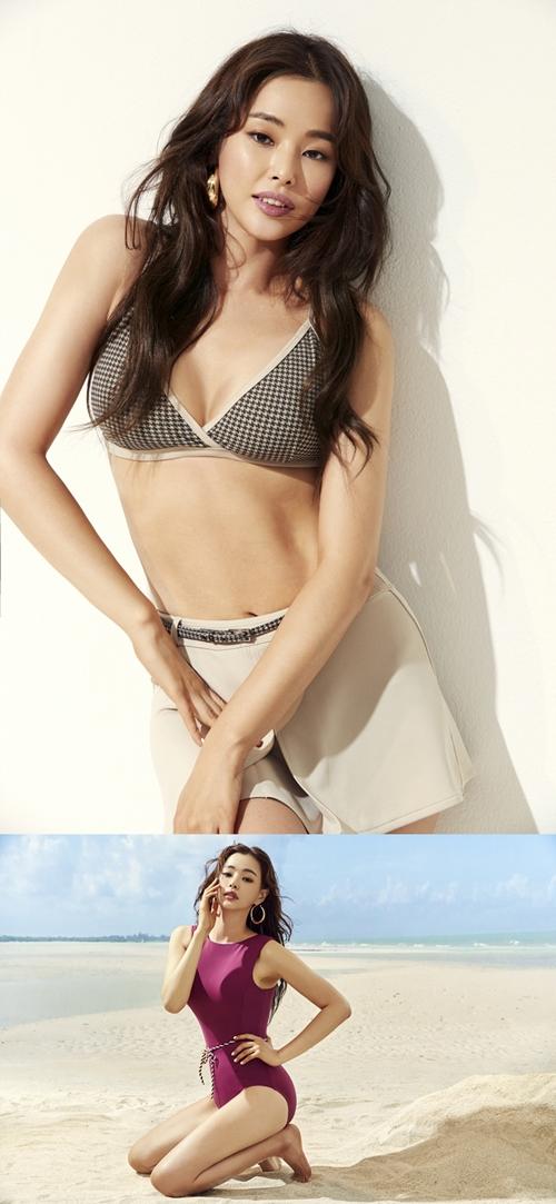 이하늬 수영복 화보 사진=레노마 수영복