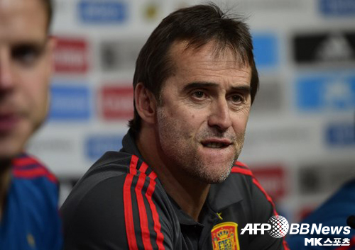훌렌 로페테기가 레알 마드리드의 새 감독으로 선임됐다. 스페인 대표팀 감독으로 기자회견에 임하는 모습. 사진=AFPBBNews=News1