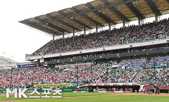 2018 KBO리그가 13일 400만 관중을 돌파했다. 사진=김영구 기자