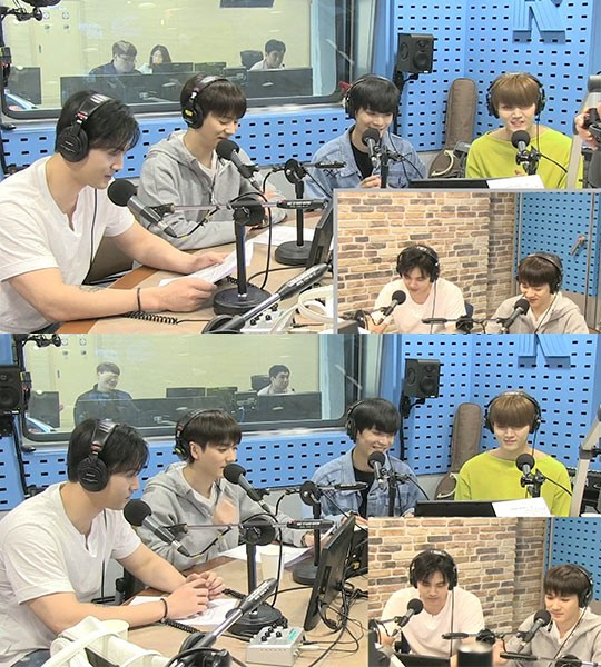 백호, 아론, JR, 렌. 사진|SBS 보이는 라디오
