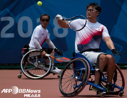 김명제는 2018 인도네시아 장애인 아시안게임에서 은메달을 목에 걸었다. 사진(인도네시아 자카르타)=ⓒAFPBBNews = News1