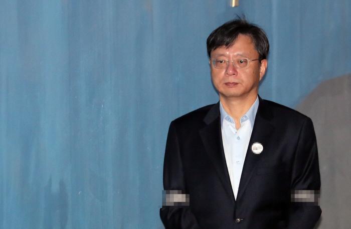 법정으로 향하는 우병우 전 민정수석 [사진제공 = 연합뉴스]