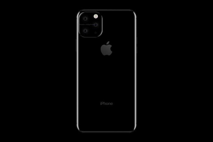 트리플 카메라가 탑재된 아이폰XI 맥스 렌더링 이미지. [사진출처 = 폰아레나]