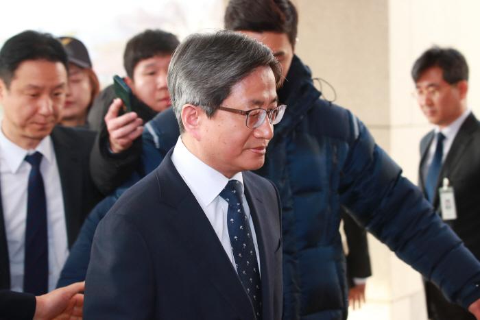 김명수 대법원장 출근 [사진 제공 = 연합뉴스]