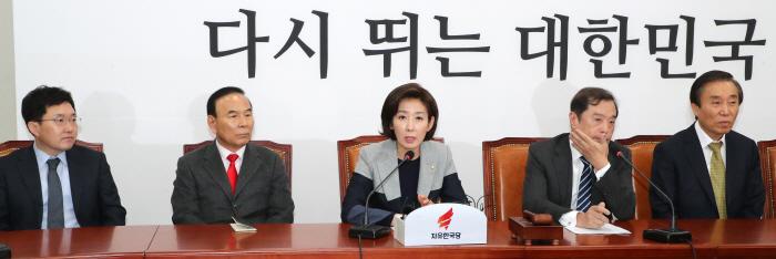 비대위에서 발언하는 나경원 [사진출처 = 연합뉴스]
