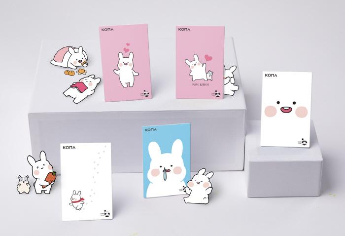 코나아이 카톡 이모티콘 카드