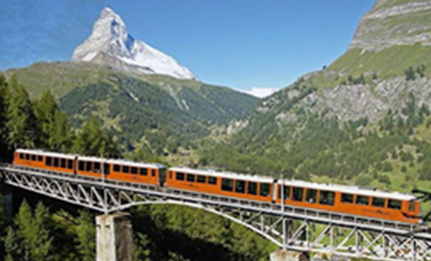 전기동력으로 9.3km를 이동하는 스위스 융프라우 철도 모습 [사진제공 = 국토부]