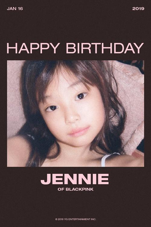 블랙핑크 제니 생일 축전 사진=YG엔터테인먼트
