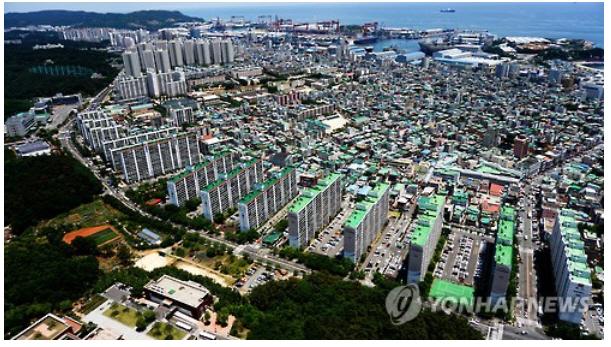 울산 동구 화정동 공동주택지 모습 [사진=연합뉴스]