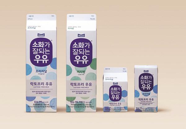 소화가 잘되는 우유 4종. [사진 제공 = 매일유업]