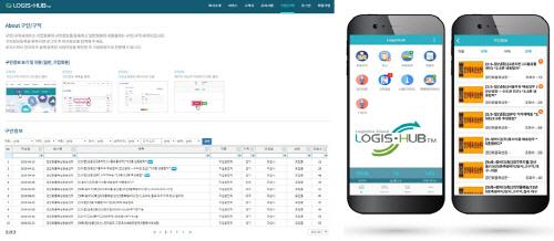 로지스허브 내 구인·구직 서비스의 웹과 모바일 화면. [자료 제공 = 네오시스템즈]