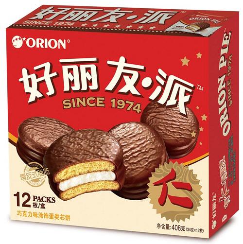 중국 `초코파이` 제품. [사진 제공 = 오리온]