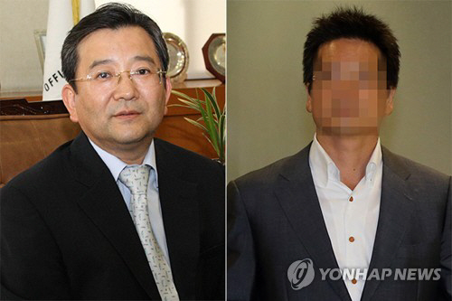 김학의 전 법무부 차관(왼쪽)과 윤중천 건설업자. [사진제공 = 연합뉴스]