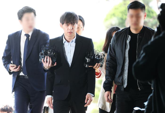 경찰 출석한 박유천 [사진 = 연합뉴스]