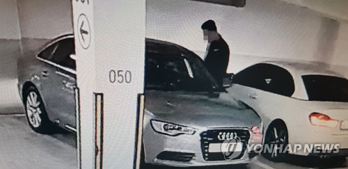 고급아파트 노린 20대 차량털이범 범행 장면 [사진 = 연합뉴스]