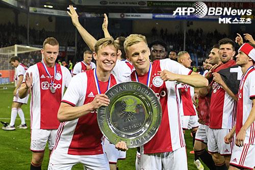 아약스는 2018-19시즌 네덜란드 에레디비시 우승을 차지했다. KNVB컵 우승까지 2관왕을 달성했다. 사진=ⓒAFPBBNews = News1
