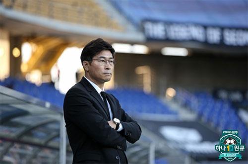 울산 현대의 김도훈 감독. 그는 선택과 집중을 택했으나 중국 상하이에서 치욕적인 대패를 했다. 사진=한국프로축구연맹 제공
