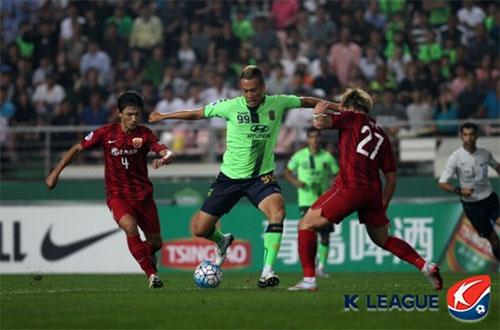 전북 현대는 2016년 AFC 챔피언스리그 8강 이후 상하이 상강과 3년 만에 맞붙는다. 전북은 당시 1,2차전 합계 5-0으로 완승을 거뒀다. 사진=한국프로축구연맹 제공