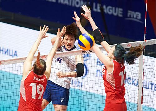 한국은 2019 VNL 예선 1주차 4조 1차전서 터키에 0-3으로 졌다. 사진=FIVB 홈페이지