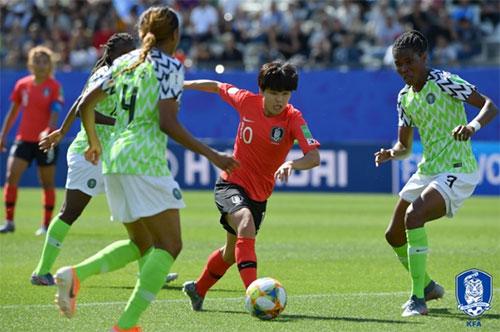 한국은 오는 18일 오전 4시(한국시간) 노르웨이와 2019 FIFA 프랑스 여자월드컵 조별리그 3차전을 갖는다. 사진=대한축구협회 제공