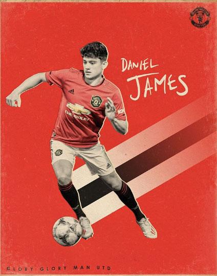 다니엘 제임스는 맨체스터 유나이티드와 5+1년 계약을 맺었다. 사진=맨체스터 유나이티드 SNS
