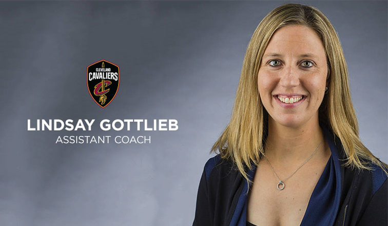 클리블랜드 캐빌리어스가 여자 대학 농구에서 감독으로 활약하던 고틀립을 코치로 영입했다. 사진= 캐빌리어스 구단 홈페이지