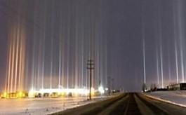 캐나다서 발견된  희귀한 '빛의 기둥'