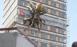 도심 한복판에 나타난  15m짜리 '초대형' 거미!
