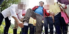 '홍준표 장화 논란' 영상 다시보니…