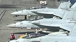 레이건 항공모함 훈련 공개전투기 1분 1대꼴 출동
