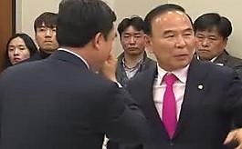 """""""뭐 하는 추태"""" vs """"완장 찼냐""""  'KTX 질의' 국회서 막말·고성"""