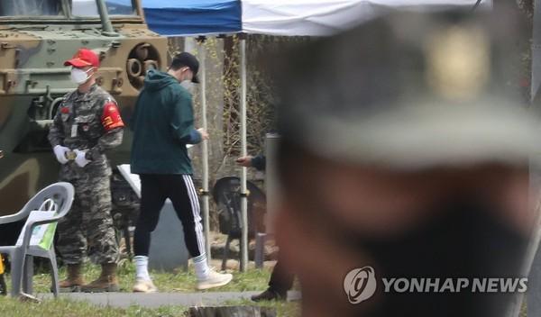 손흥민 해병대 기초군사훈련 입소 / 사진=연합뉴스