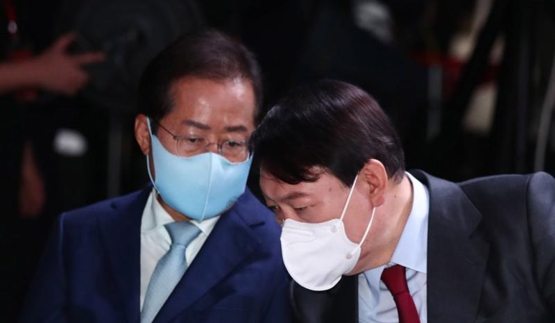 홍준표, 윤석열 경선 후보 / 사진=연합뉴스