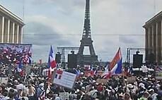 프랑스 '백신 증명서' 반대 시위에 11만 명 운집