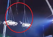 6억 원 상금 타려다…차량 2대에 깔린 스턴트맨