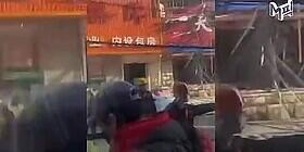 [엠픽] 중국 선양 가스폭발 사고 현장